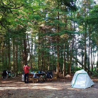 Car-less camping.